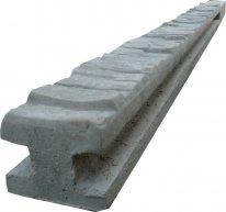 Betonový sloupek průběžný na 1,0 m plot (150 cm) vzorovaný