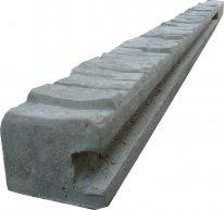 Betonový sloupek koncový na 2,0 m plot (280 cm) vzorovaný