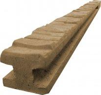 Betonový sloupek průběžný na 1,5 m plot (220 cm) vzorovaný