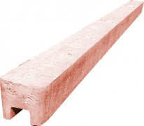 Betonový sloupek koncový na 2,0 m plot (280 cm) hladký