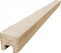 Betonový sloupek koncový na 2,5 m plot (340 cm) hladký