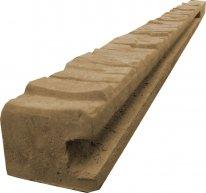 Betonový sloupek koncový na 1,5 m plot (220 cm) vzorovaný