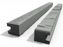 Betonový sloupek koncový na 1,5 m plot (220 cm) vzorovaný oboustranný