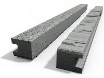 Betonový sloupek koncový na 2,0 m plot (280 cm) vzorovaný oboustranný