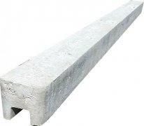 Betonový sloupek koncový na 1,75 m plot (245 cm) hladký